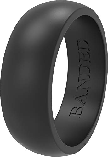 Amazon Com Banded Glory Silicone Wedding Ring Rubber Wedding