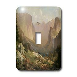 3dRose LLC lsp_126704_1 View of Yosemite Valley By Thomas Hill American West Single Toggle Switch