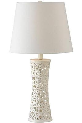 Kenroy Home Glover Table Lamp - Gloss White