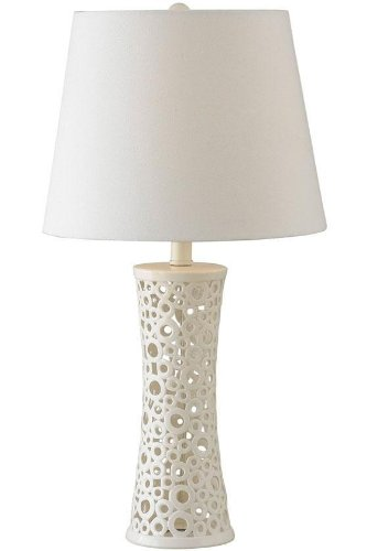 Kenroy Home 21056WH Glover Table Lamp, Gloss White - Pavilion Side West
