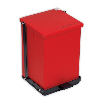 Receptacle Baked Epoxy in Red Capacity: 16 Quart (4 Gallon)