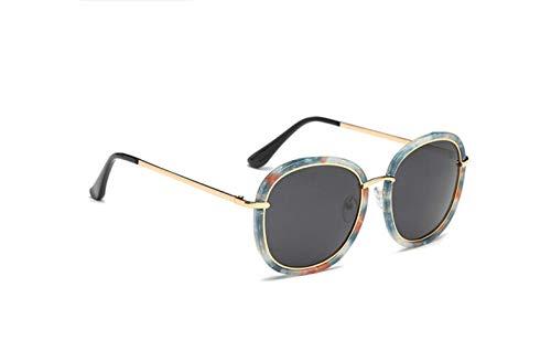 Driving Frame Gafas De Polarizadas Polarized Floral liwenjun Gafas Retro Driving UV Driver Round Face Gafas Sol Gray De Sol Protección qwRnXzT