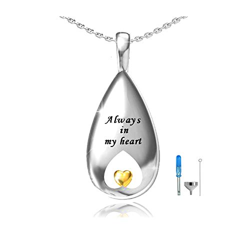 - oGoodsunj Urn Pendant Necklace for Ashes - S925 Sterling Silver Cremation Jewelry Women Keepsake Necklaces Always in My Heart