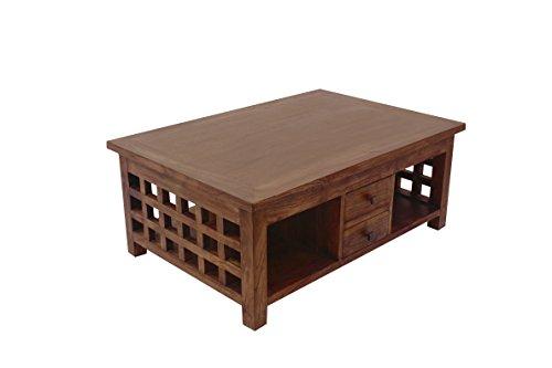 NES Furniture NES Fine Handcrafted Furniture Solid Teak Wood Java Coffee Table – 35″