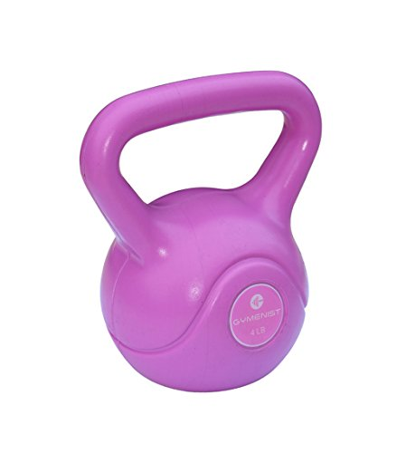 Gymenist Exercise Kettlebell Fitness Workout Body Equipment Choose Your Weight Size (4 LB)