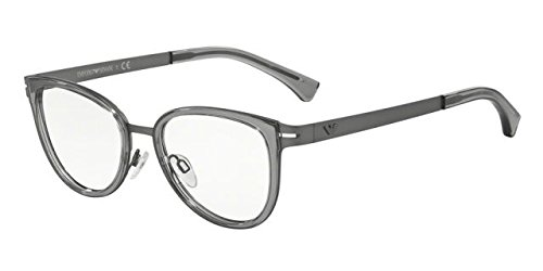 Emporio Armani EA 1032 Women's Eyeglasses Gunmetal Rubber - Armani Giorgio Round Eyeglasses