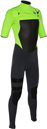 ns Fusion 202 Men'S Short Sleeve Fullsuit, Flash Lime-M (Hurley Flash)