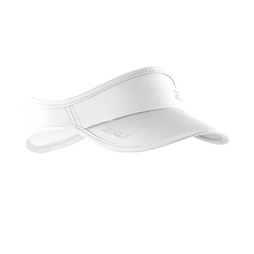 2XU Run Visor, White/White, One Size