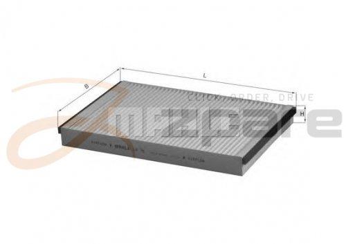 MILPAR Filtro de salpicaderos Astra G Descapotable (F67) 1.6 16 V/Astra G Descapotable (F67) 1.8 16 V: Amazon.es: Coche y moto