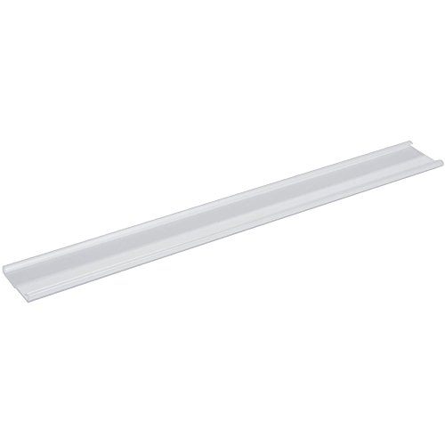 HUBERT Shelf Molding Strip with Adhesive Clear Plastic Open Shelf Molding Cover- 48