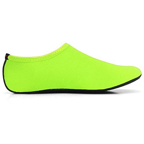 JustOneStyle NBERA Barfuß Flexible Wasserhaut Schuhe Aqua Socken für Beach Swim Surf Yoga Übung Pop_grün
