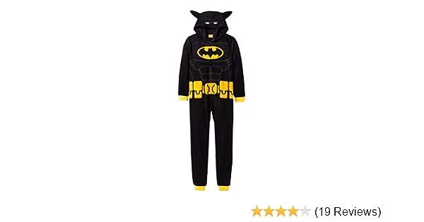 Batman Boys Hooded Pajama Union Suit