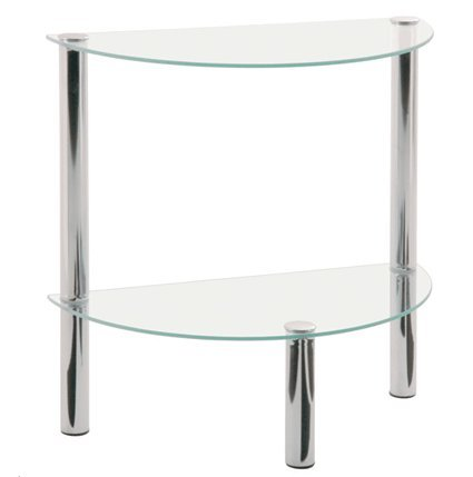 2T Half Moon Glass Table 90241
