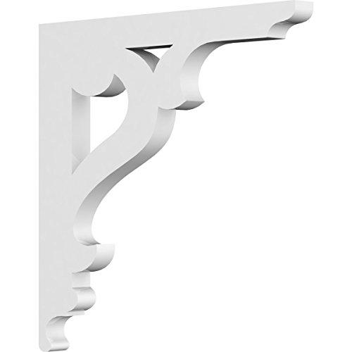 (Ekena Millwork BKTP01X08X08BR PVC Bracket, 5/8