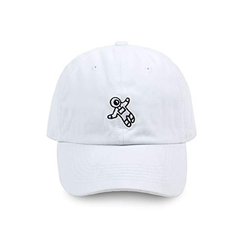 刺繍野球帽 4色利用可能 ユニセックス 調整可能な 綿 カジュアルキャップ,白