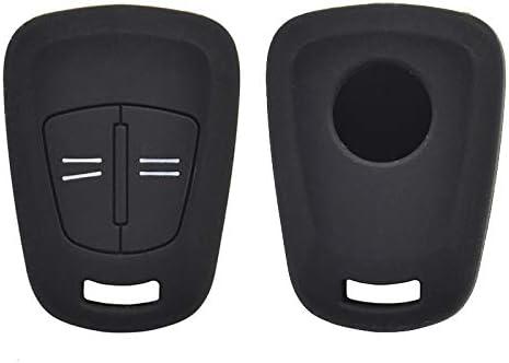 Xukey 2 Tasten Silikon Autoschlüssel Hülle Für Opel Corsa Agila Meriva Abdeckung Schlüssellose Fernbedienung Hülle Skin Holder Protector 2005 2009 Auto
