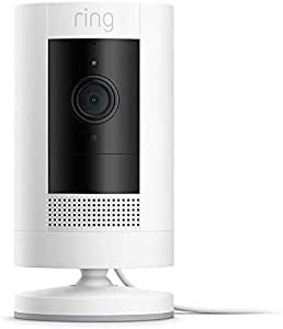 All-new Ring Stick Up Cam Plug-In | HD security camera with Two-Way Talk, white