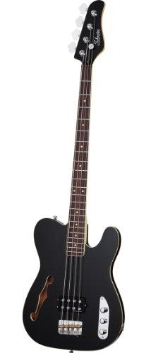 Schecter Baron-H 4-String Bass Guitar, Vintage Black