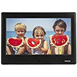 TENKER PF0070 HD Digital Photo Frame IPS LCD Screen with Auto-Rotate/Calendar/Clock Function, Mp3/Photo/Video Player with Remote Control, Black