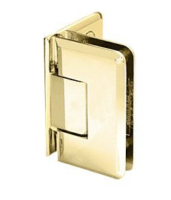 CRL Brass Cologne 044 Series Wall Mount Offset Back Plate Hinge