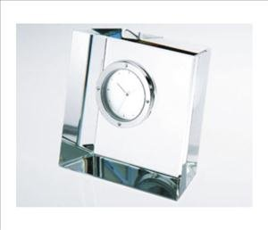 ANEDesigns Personalized Slanted Crystal Block Clock (Crystal Block Clock)