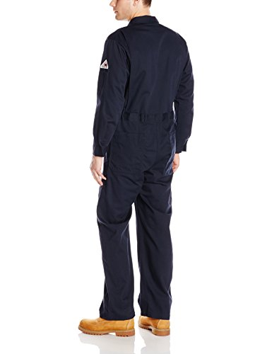 Bulwark Flame Resistant 9 oz Twill Cotton Deluxe Coverall with Concealed Snap Cuff, Navy, 60 by Bulwark FR (Image #2)