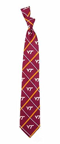 (Virginia Tech Hokies NCAA Silver Line Woven Silk Neck Tie Eagles Wings)