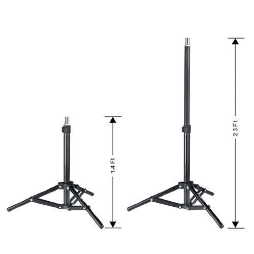 Square Perfect 2804 Professional Quality Photo Studio Continuous Lighting Umbrella Photography Stand Light