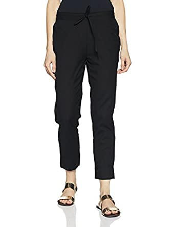 Amazon Brand - Myx Women's Cotton Blend Tapered Pants
