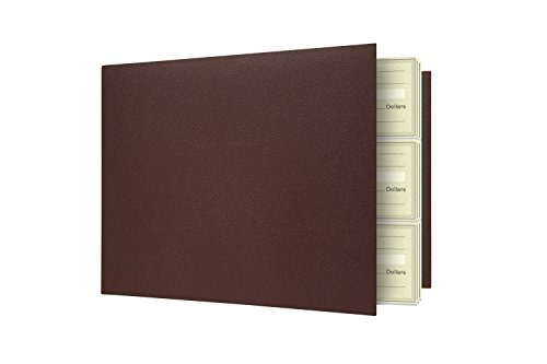 7 Ring Business Check Binder For 3 On A Page Checks   Large Storage Pouch  Calendar  And Ballpoint Pen Included  Burgundy