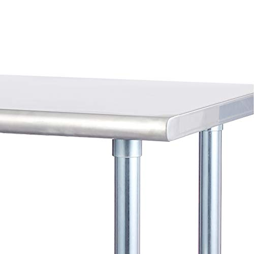Rockpoint Carmona Tall NSF Stainless-Steel Kitchen Work Table with Adjustable Shelf, 30 x 23 Inch by ROCKPOINT (Image #4)