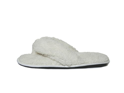Fleece White Wide Double Women Plush Flip Slippers Flop Color Onmygogo Indoor Straps Slippers ZW8Fq7Zv