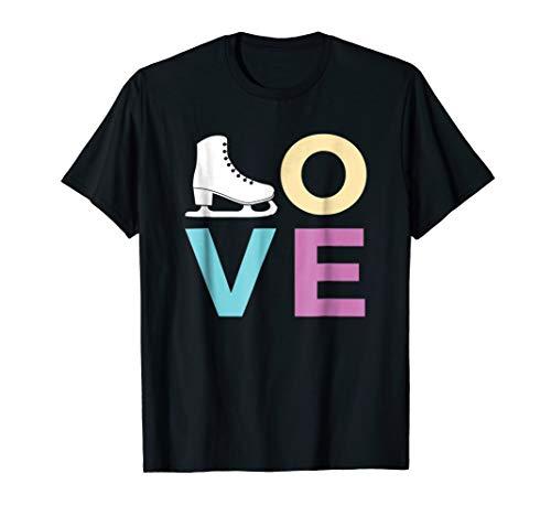 Figure Skating Gift Tshirt for Girls Women who Ice Skate ()