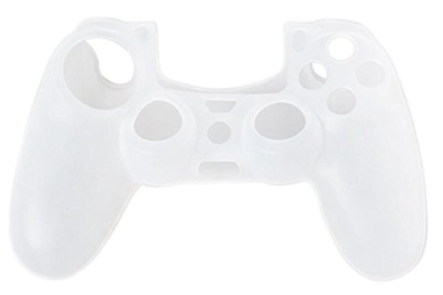 Price comparison product image Amiley Hot Sale Soft Silicone Case Cover For Playstation PS4 Controller (White)