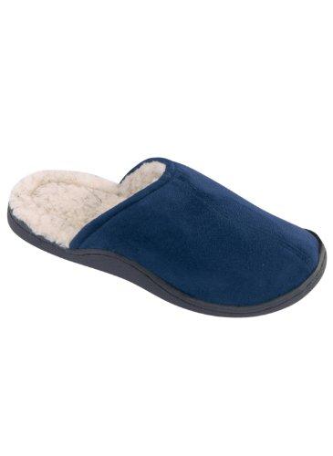 Pantofole Di Zoccoli Blu Marino