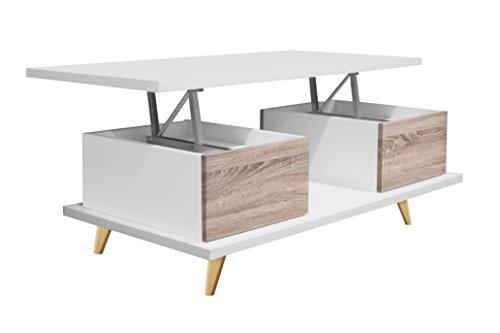 OVERHOME365 3580 B/V - Mesa centro de madera, 100 x 55 x 39 cm ...