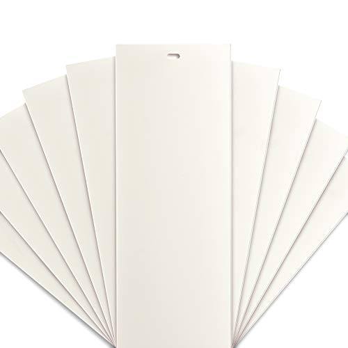 DALIX PVC Veritcal Blind Replacement Slats Curved Smooth Ivory 94.5 x 3.5 -