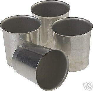 Seamless Candle Molds - Seamless Metal VOTIVE Candle Molds (Lot of 12)