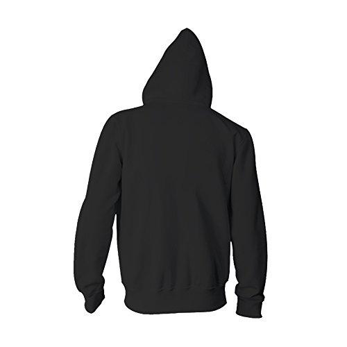 Avec Hoodie Sweat Pocket Capuche À Avant Fermeture Veste Acvip Homme Noir Éclair 50OTwq0X