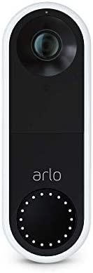 Arlo Essential Video Doorbell Wired - HD Video, 180° View, Night Vision, 2 Way Audio, Direct to Wi-Fi No Hub Needed, Easy Installation (existing doorbell wiring required), White - AVD1001