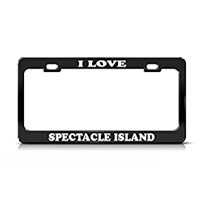 I LOVE SPECTACLE ISLAND Massachusetts Black Metal license Plate Frame