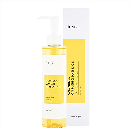 iUNIK Calendula Complete Deep Cleansing Oil, 6.70 Fl Oz – 94% Natural Oil Cleanser, Makeup Remover for Waterproof…
