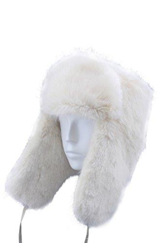 FUR WINTER Faux Fox Mink Rabbit Fur Full Russian Ushanka Soviet Army Military Soldier Hat BGE M