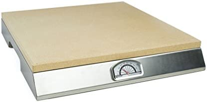 Pizzacraft Pizza Stone with Built-In Thermometer Base – PC0106