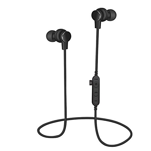 Wireless Headphones, Bluetooth Headphones, Chliste Lightweight Bluetooth Earbuds, Sweatproof Stereo Wireless Earbuds Noise Cancelling Wireless Earphones Fit for Gym Sports with Built-in Mic (Black)
