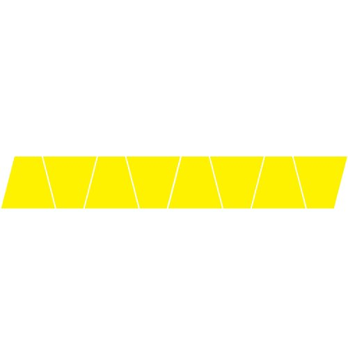 Reflective Fire Helmet Tets 8 Pack Tetrahedrons Fire Helmet Stickers -Yellow ()