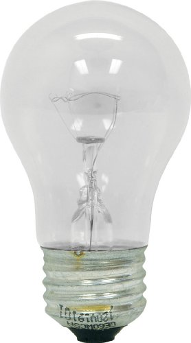 Clear Appliance Light Bulb (GE Lighting 76579 Appliance 40-Watt, 415-Lumen A15 Light Bulb with medium Base, 4-Pack)