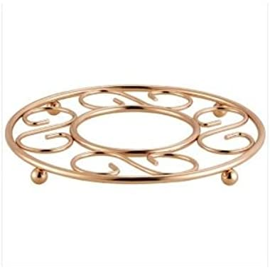 Home Basics TR01956 Trivet, Rose/Gold