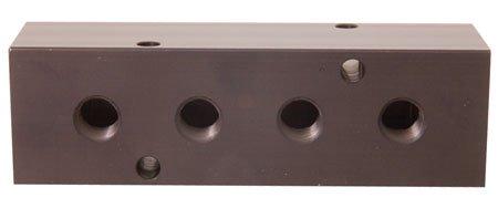 MM-200 Aluminum Single-Sided Ports Manifold 3/8 NPT Ports, 1/2 NPT Inlet