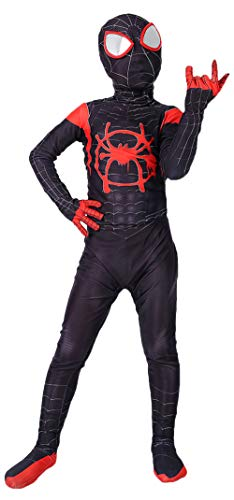 Riekinc Superhero Zentai Bodysuit Halloween Kids Cosplay Costumes]()